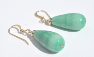 Green Grass Agate Earrings2